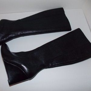 Nine West women's leather wedge boots size 5M